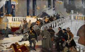 Vasili Vasilevich Sokolov - Storming the Winter Palace 1962